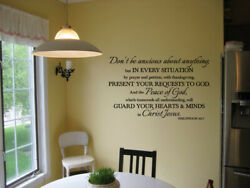 Philippians 4:6 7 Don#x27;t be anxious about anything vinyl wall decal bible verse $11.35