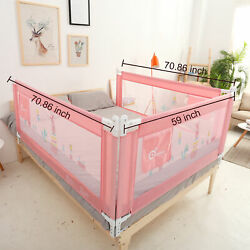 Vertical lift Bed Rails Wall for Baby Child Toddlers Sturdy Safety Bed Guard Net $34.99