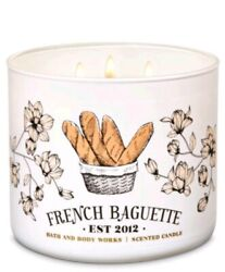 Bath & Body Works 2012 French Baguette 3 Wick Scented Candle 14.5 oz