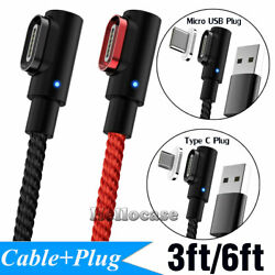 Magnetic Charger IOS Micro USB Type C Plug Cable For Android Samsung iPhone iPad