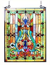 Stained Glass Chloe Lighting Victorian Window Panel 19 X 24.75quot; Handcrafted New $141.60