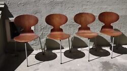 Arne Jacobsen Ant Chair 1952 * First Edition * RARE Vinyl Wrapped Legs Set of 4