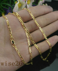 2MM 18k Yellow Gold Filled Twist Link Chain Necklace Wedding Jewelry 16-30