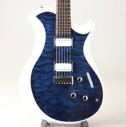 Relish Guitars Mary ONE Quilted Maple Marine  White Edge