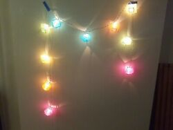 Flexible String Paper LED 10 Light Connection Holiday Birthday Festival $15.99