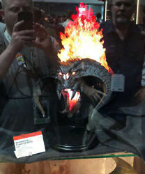 Weta Balrog Bust Statue The Lord of the Rings Flame Light Up Resin Model Figure