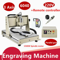 1.5KW 3 Axis 6040 Router Engraver 3D Engraving Drilling Machine WRemote Control