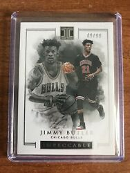2016-17 Panini Impeccable Jimmy Butler Silver Parallel SP #0999 Chicago Bulls