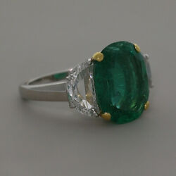 18ct Gold 5.69ct Emerald & 1.27ct Diamond Cocktail Ring {LL263}FINANCE AVAILABLE
