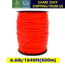 6lb 2.4mm Square Orange Commercial Trimmer Line Spool Roll Fit Echo Stihl Redmax $39.99