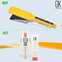 GKhair One Control Titanium Flat Iron Hair Straightener Dual Voltage US Plug $190.00