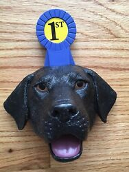 1st Place Trophy and DOG FOOD SCOOP 1 one Cup unique design Labrador $9.00