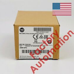 2018 US stock Allen-Bradley Micro800 2 Point Analog Output Plug-In 2080-OF2