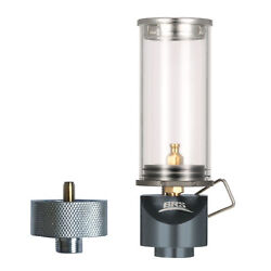 Portable Outdoor Camping Picnic Butane Gas Lantern Candle Tent Light Fire Lamp $22.92