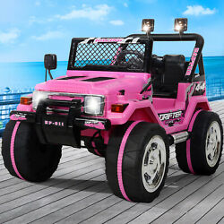 12V Kids Ride On Truck Car w Remote Control LED Lights 3 Speeds w Music Pink $169.99