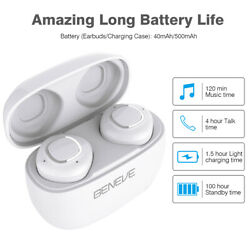 Wireless Earbud Bluetooth Earphone Headset With Mic Plus Charging Box Waterproof