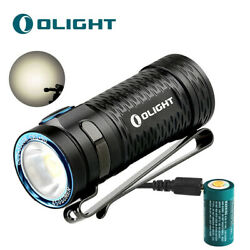 OLIGHT S1 MINI HCRI 450 Lumens LED EDC Flashlight wUSB Rechargeable Battery