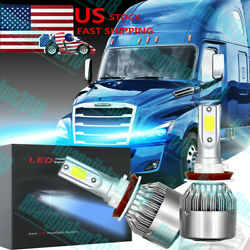 2PCS ICE BLUE LED Bulb Kit for 2008-2018 Freightliner Cascadia Commercial Truck