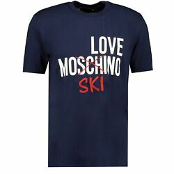 Love Moschino Cross #x27;SKI#x27; T Shirt Navy GBP 76.99