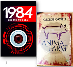 Animal Farm and 1984 by George Orwell - 2 Paperback Books Set