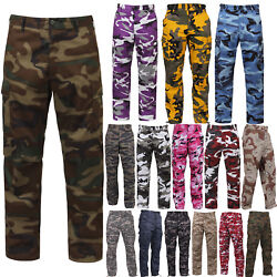 Tactical BDU Pants Camo Cargo Uniform 6 Pocket Camouflage Military Army Fatigues $37.99