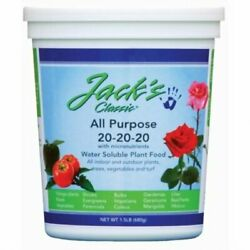 Jacks Classic 20 20 20 All Purpose Fertilizer 1.5 Lb $21.69