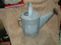 VERY OLD RARE HUGE ANTIQUE WATERING CAN GALVANIZED W COPPER SPRINKLER HEAD