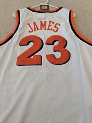 BRAND NEW WITH TAGS STITCHED LEBRON JAMES CLEVELAND CAVS JERSEY WHITE SIZE 52 XL