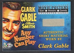 MOVIE POSTERS 2009 STARS MONSTERS & COMEDY Breygent Prop Card #VG1 CLARK GABLE
