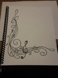 Blank Sheet Music Score Manuscript Paper Staff Paper Musicians Notebook $6.25