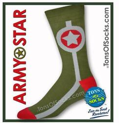 Men#x27;s Army Star Socks $9.99