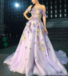 Elegant Off Shoulder Appliques Tulle Celebrity Evening Gowns Prom Party Dresses