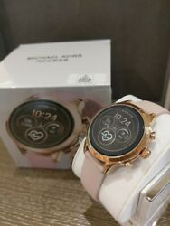 Michael Kors Women's Access Runway Stainless Steel Silicone Smart Watch MKT5048