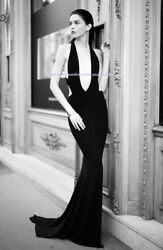 Alexandre Vauthier Fall 2015 Plunging Black Dress Fr.36