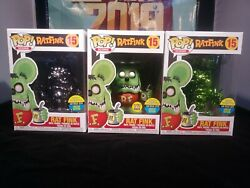 Funko SDCC Toy Tokyo Excl. Rat Fink set of 3 GITD & Chromes In-Hand + SDCC Gift
