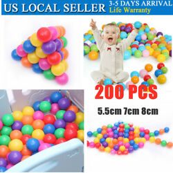100200pcs Soft Plastic Ocean Ball Funny Baby Kids Swim Pit Pool Toys Colorful