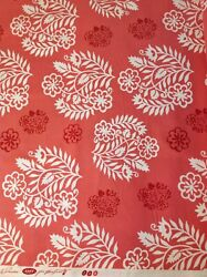 AMY BUTLER TEMPLE FLOWERS Fabric - raspberry Pink white BTY OOP - D887 632