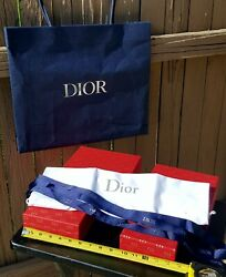 NEW 4 CD Dior Red Gold Boxes Each Fits Into The Other PLUS: Dust BagRibbon♡ $107.19