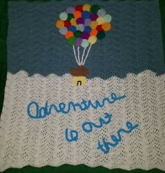 New Baby Crochet Up Blanket Afghan great baby shower gift $30.00