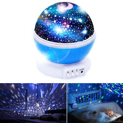 Starry Night Sky Projector Lamp Kids Baby Gift Moon Star Light Rotating Cosmos $10.99