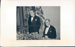 1937 Photo Paul Hoffman President Studebaker Chairman Willard Chevalier Fund