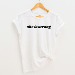 SHE IS STRONG T-shirt Women's Inspirational Empowered Cancer SurvivorFighter
