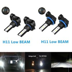9005 H11 Combo CSP LED Headlights Bulbs Kit High Low Beam 6000K White 55W 6000LM