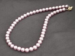 LAVENDER PINK Shell Pearl Necklace Wedding Bridal Bridesmaids Prom 6mm 8mm 10mm