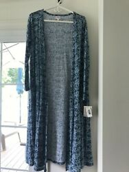 NWT Lularoe Sarah Small Shades of Blue Light weight material $19.99