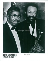 Press Photo Musician Hank Crawford Jimmy Mcgriff Saxophonist Soul Jazz 8X10