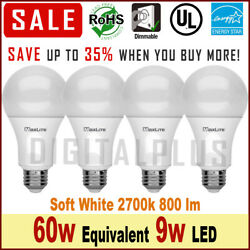 60w Equivalent  Replacement  9w LED Light Bulbs Soft White 2700k E26 Dimmable $10.99