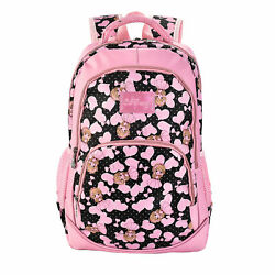 Anime Angle Pink Heart Pattern Kids School Backpacks (Primary Middle School)