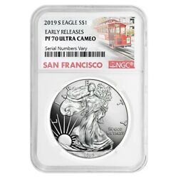 2019-S 1 oz Proof Silver American Eagle NGC PF 70 UCAM Early Releases (SF Label)
