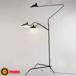 Aluminum Black Arms LED Floor Lamp Standing Lamps Office Reproduction Lighting $128.79